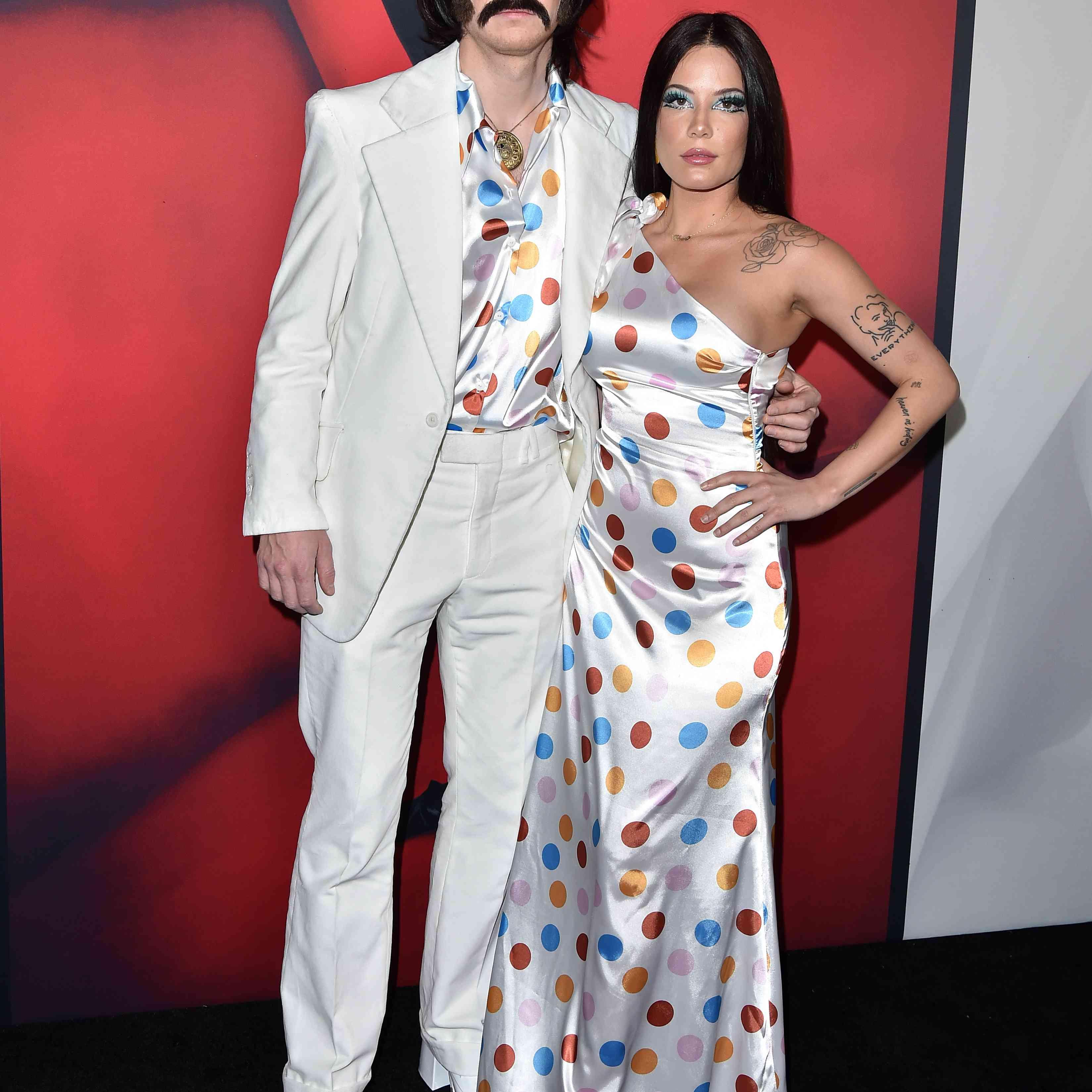 Evan Peters and Halsey