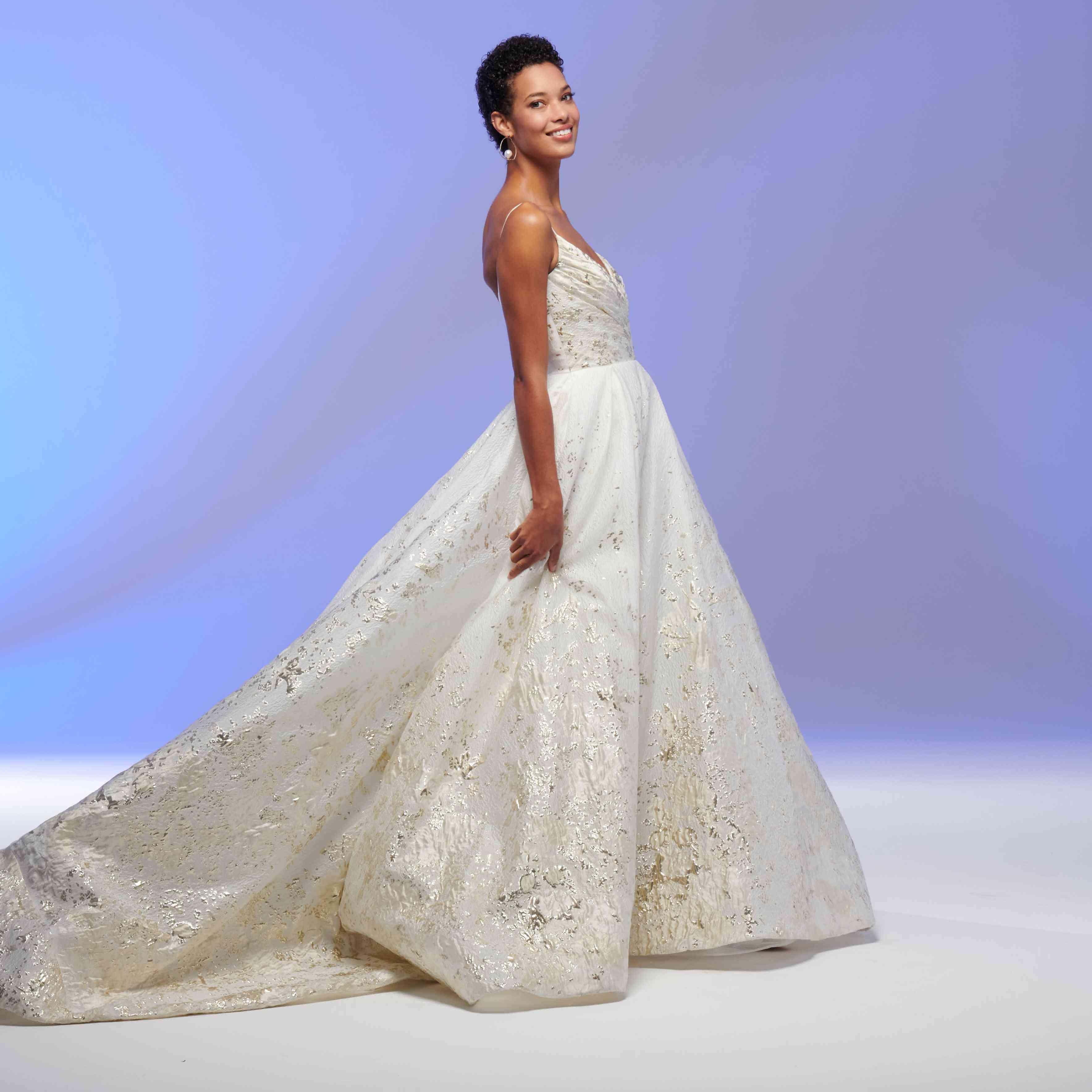 Valencia gold wedding dress