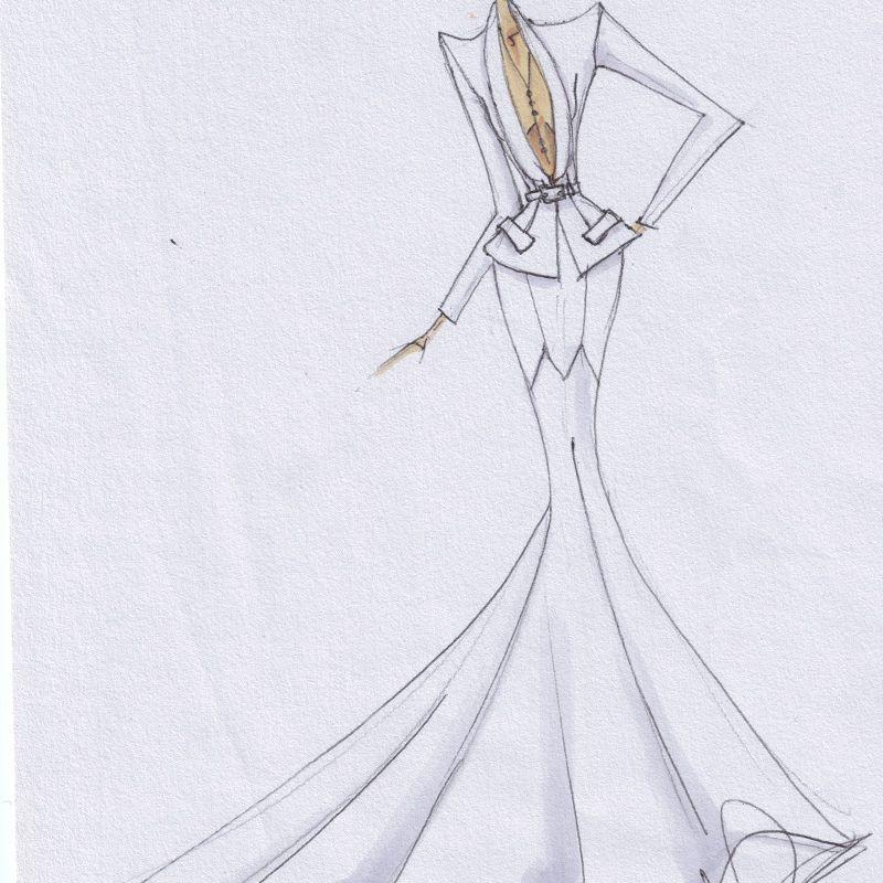 Leah Da Gloria Bridal Fashion Week Fall 2020 Sketch