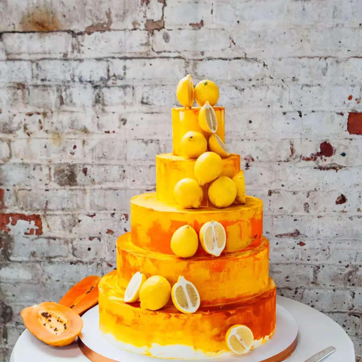 lemon wedding cake