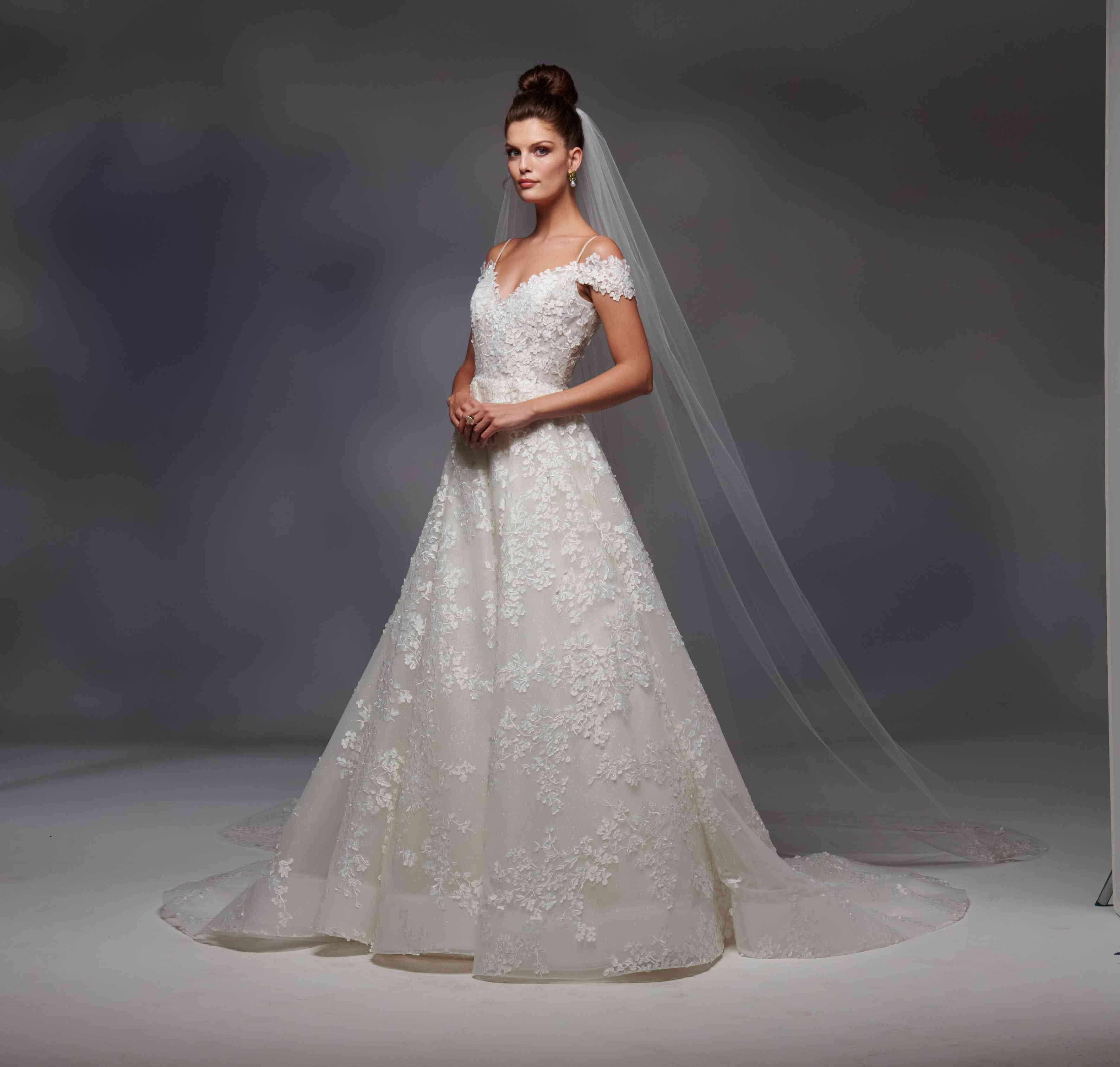 Vienna off-the-shoulder wedding dress