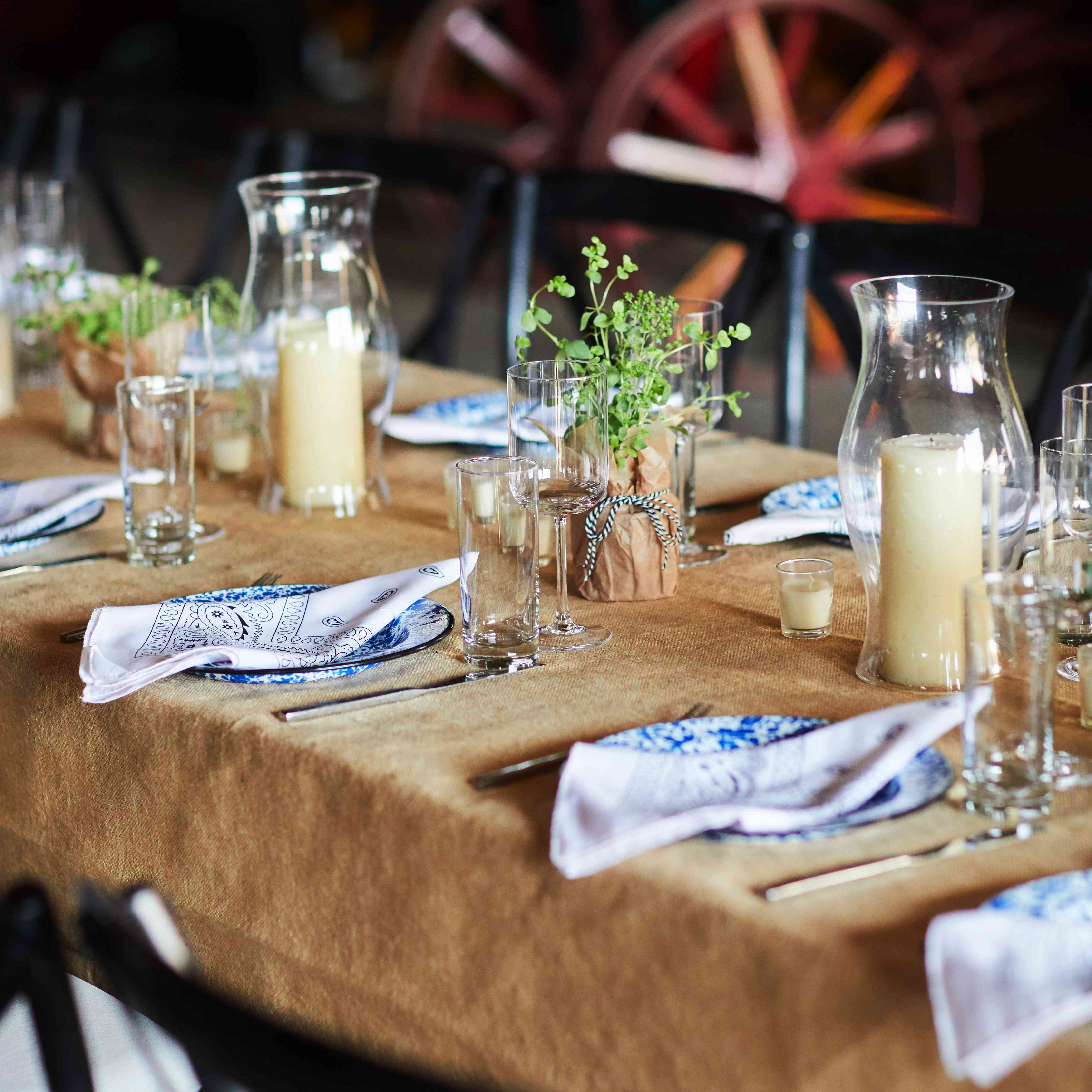 Rustic, country tablescape