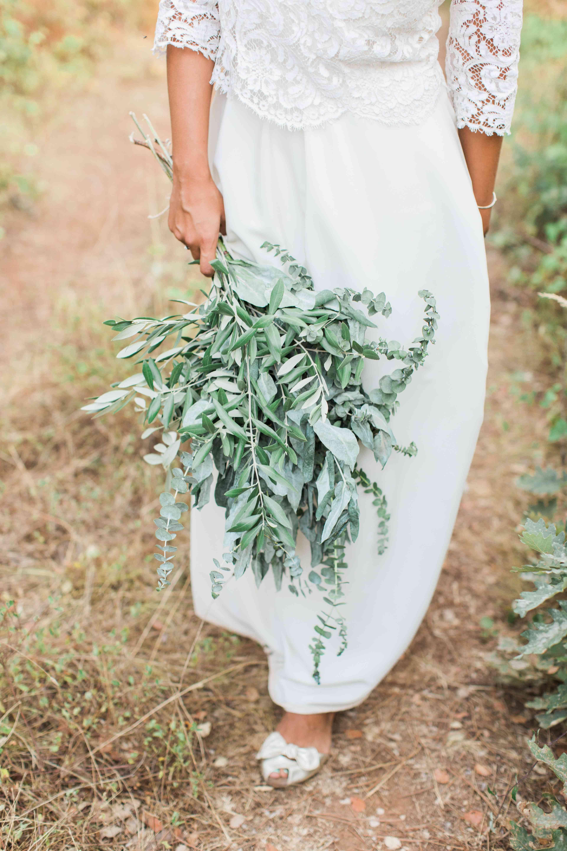 long stem greenery bouquet