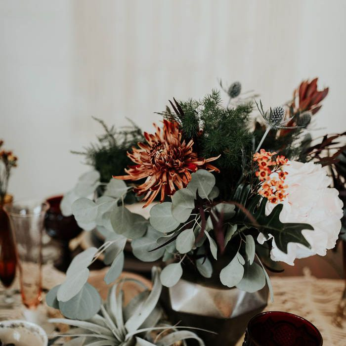 Sage greenery in floral arrangement