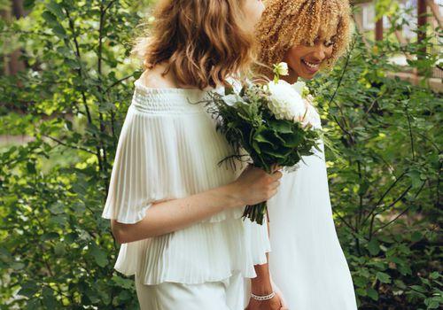 Two women getting married