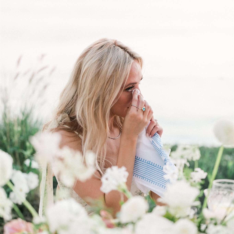 bride joyful tears