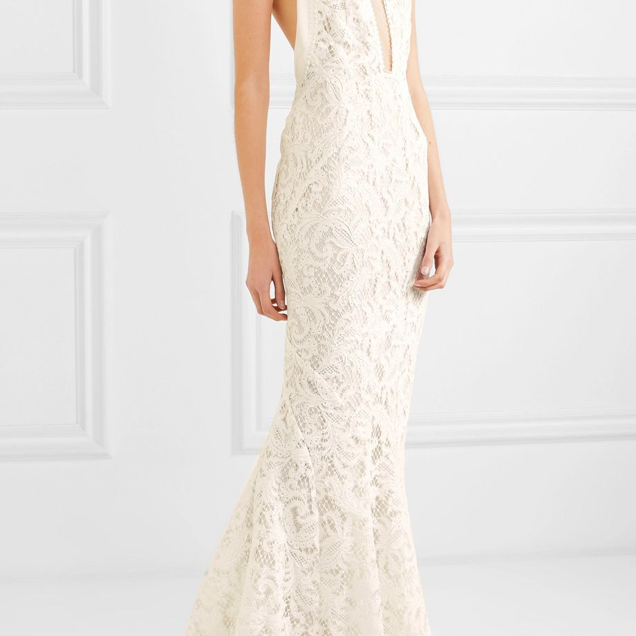 Galvan Positano Tulle-Paneled Lace Gown $5,065