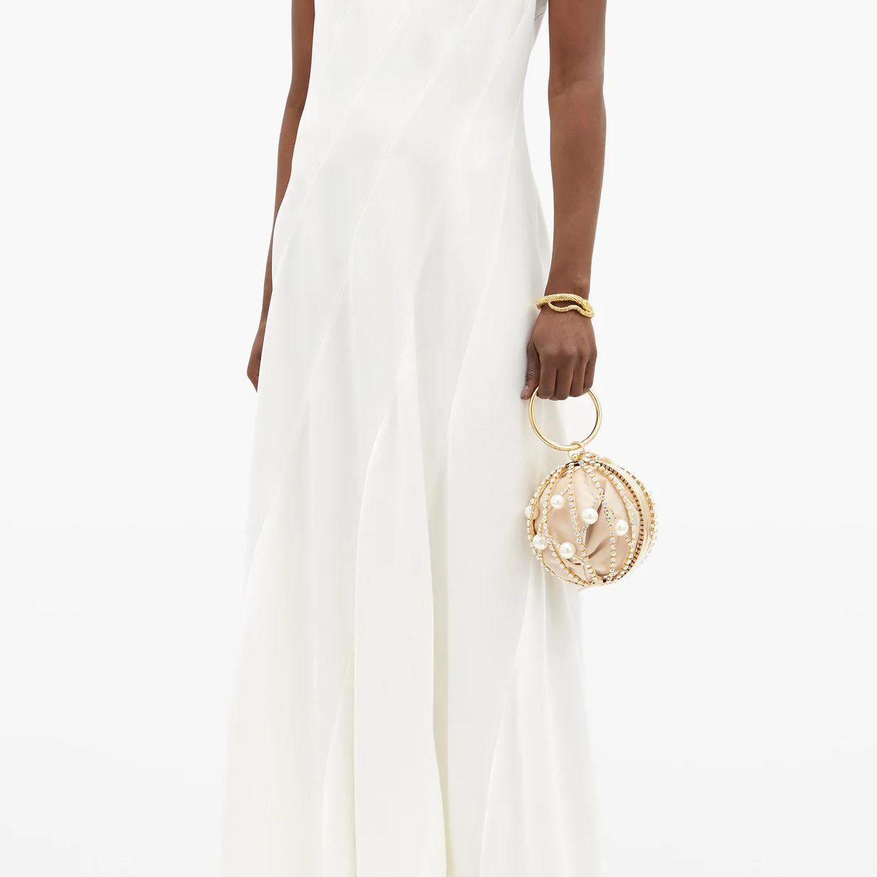 sleeveless gown