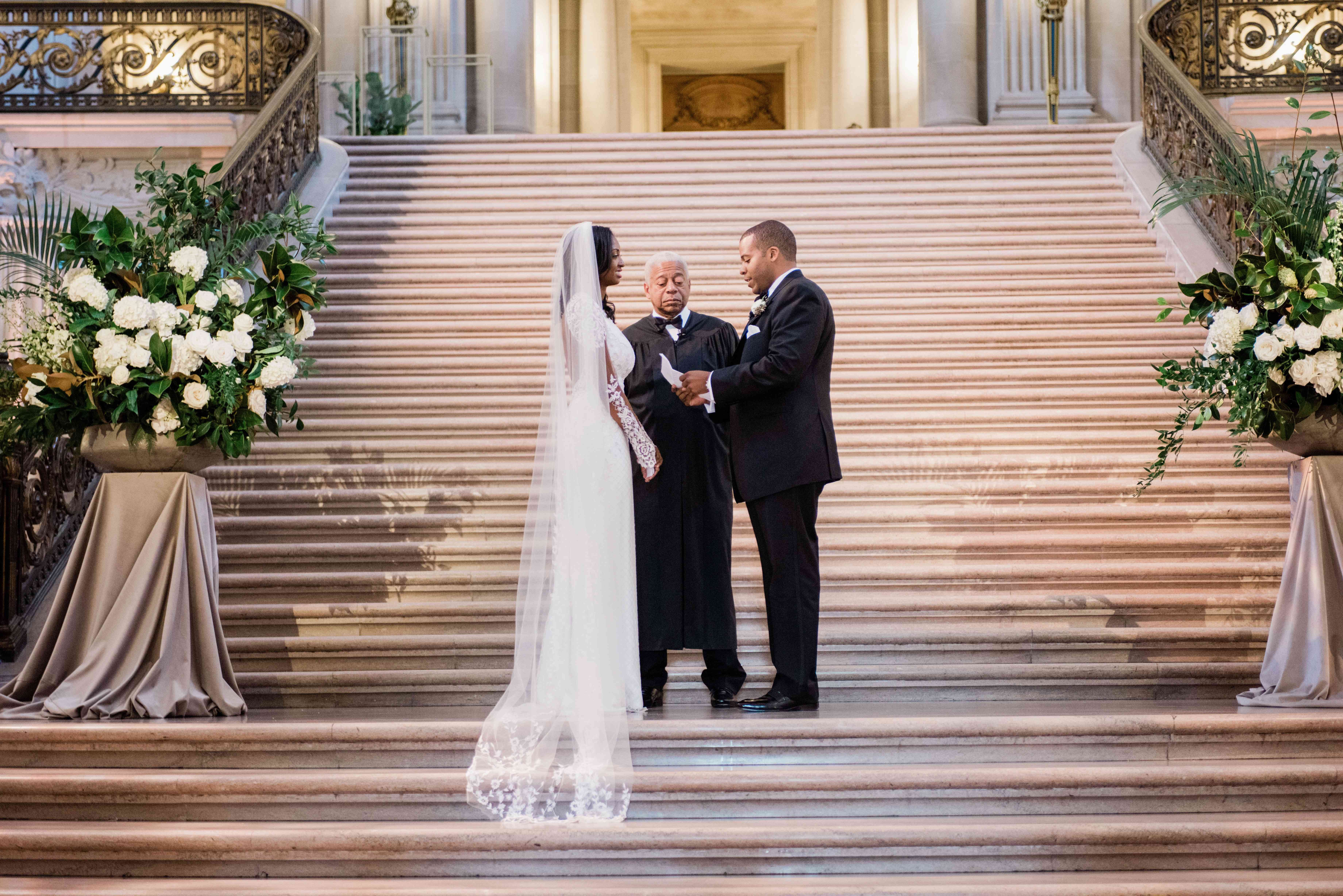 couple at altar