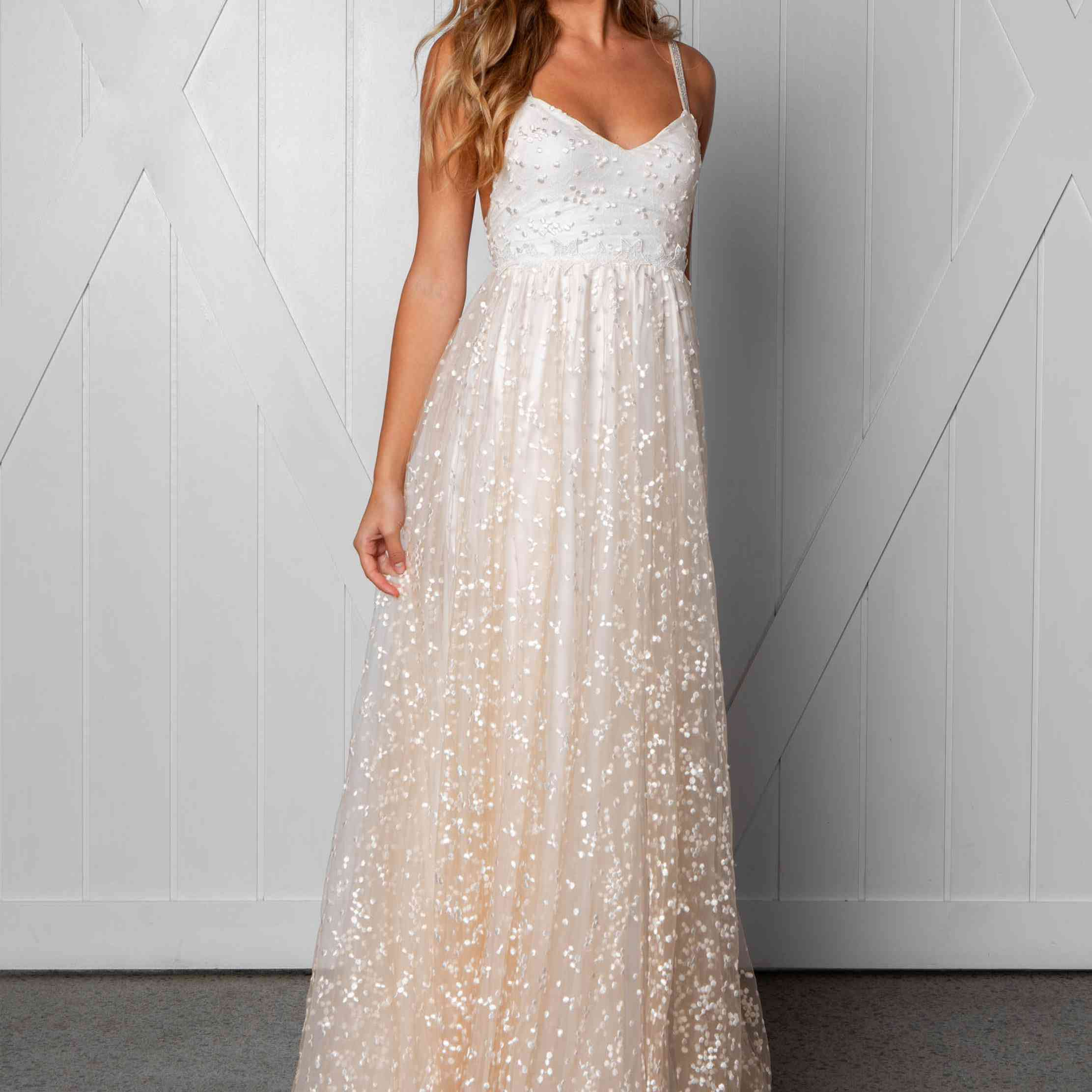 Menha blush wedding dress