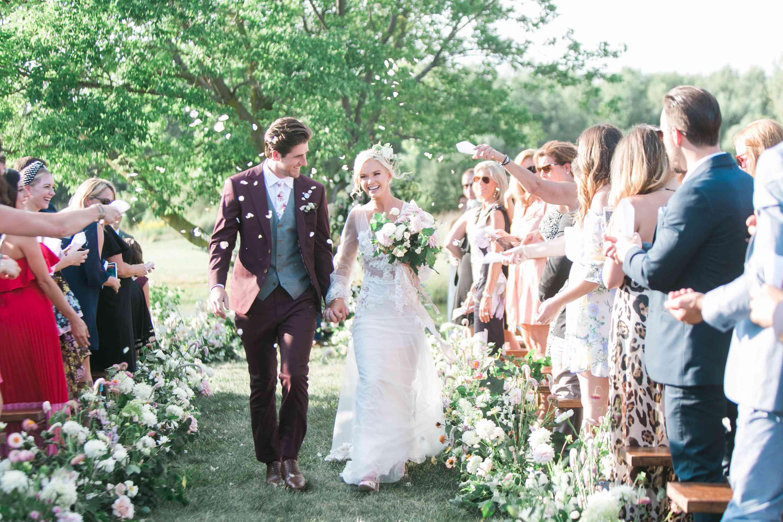 ceremony exit petal toss