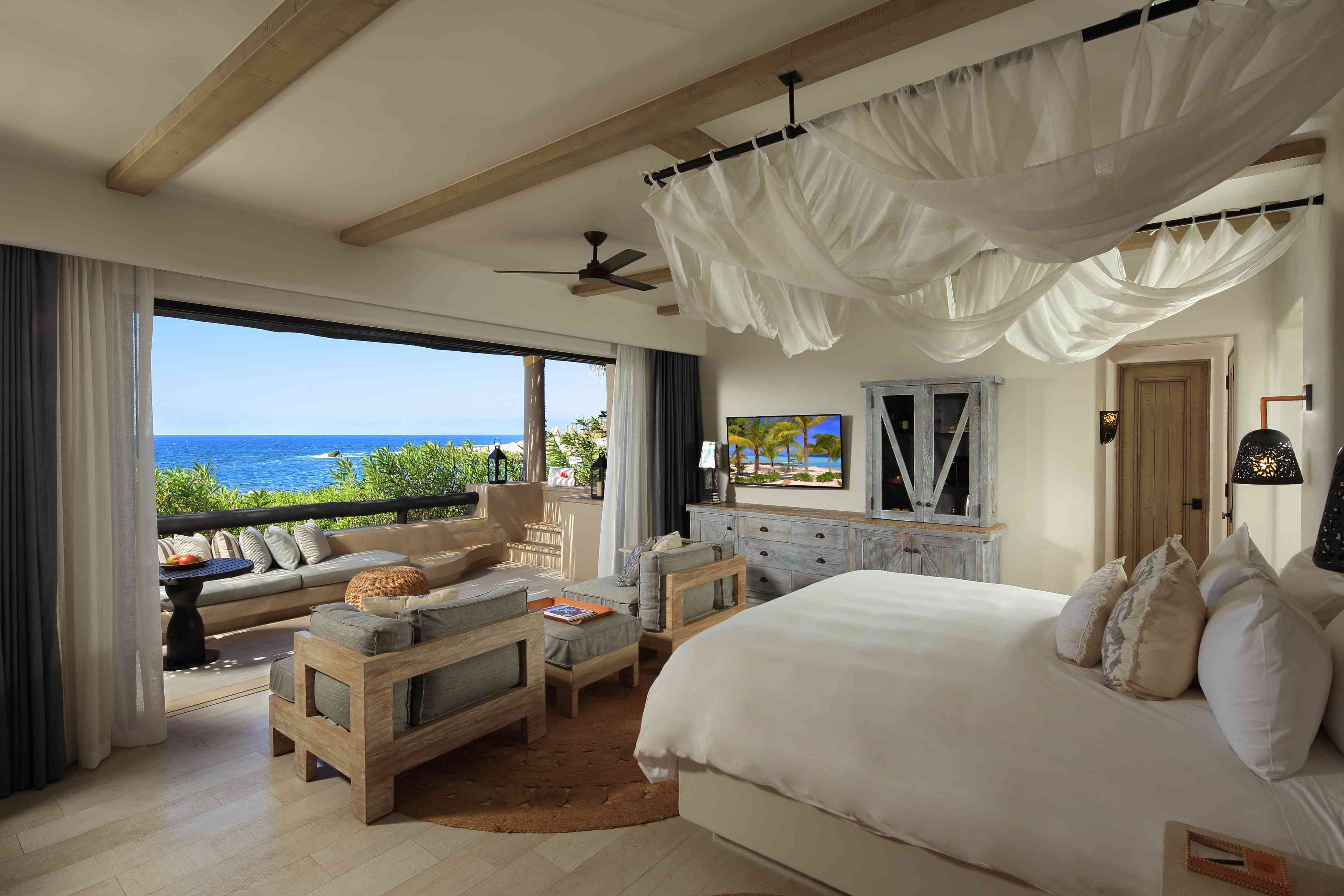 A guest room at Esperanza Resort in Los Cabos, Mexico.