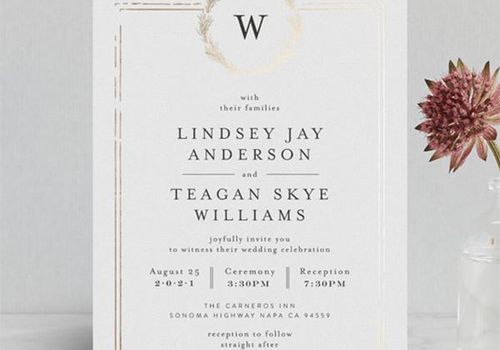 Royal Wedding Inspired Invitations From