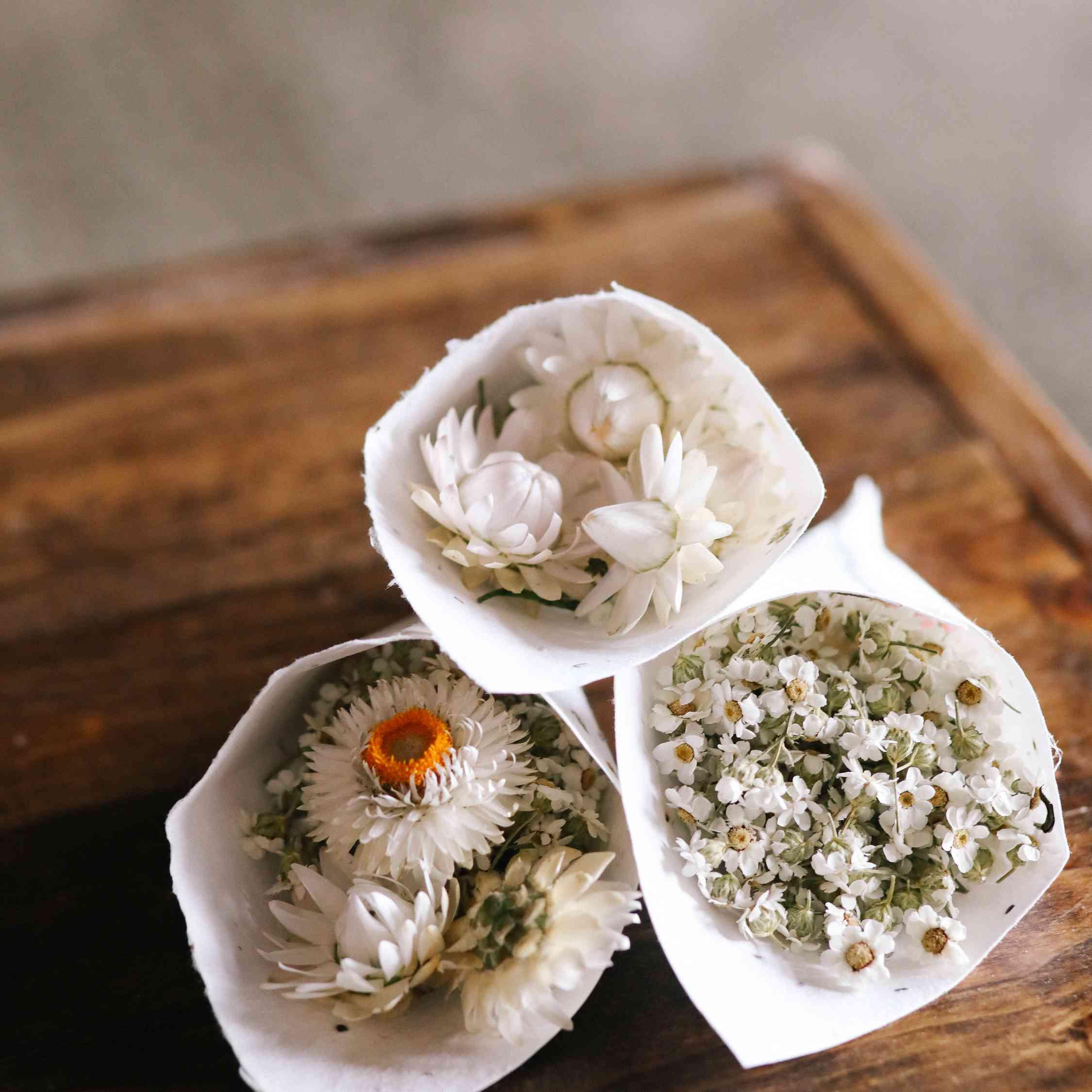 savannah and riker wedding, flower toss