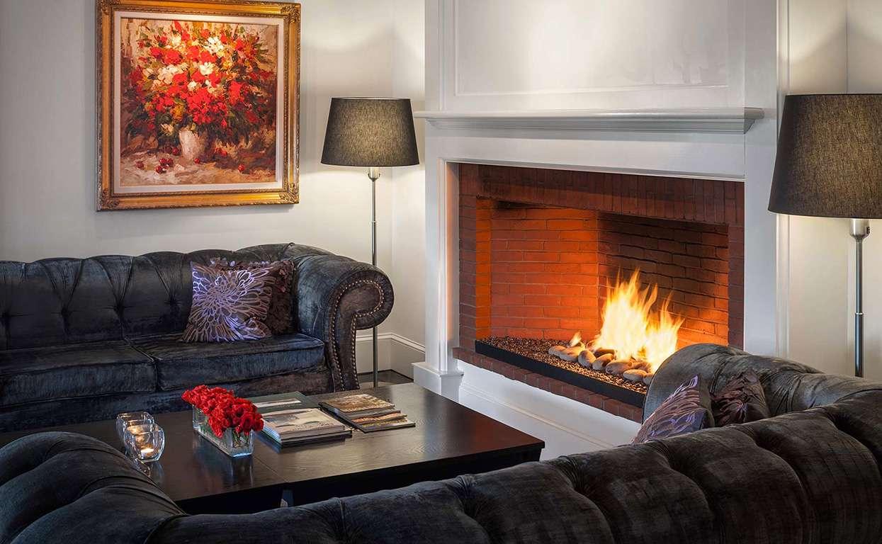 Fireside living room set-up