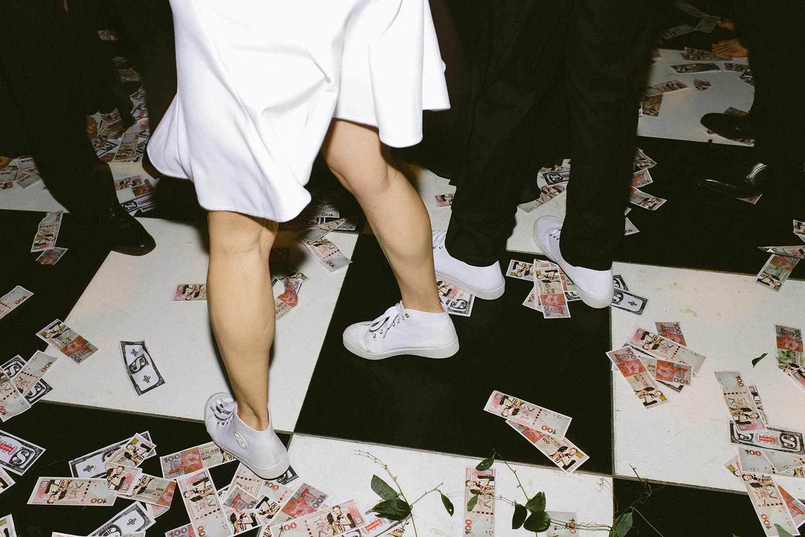 Dance floor detail