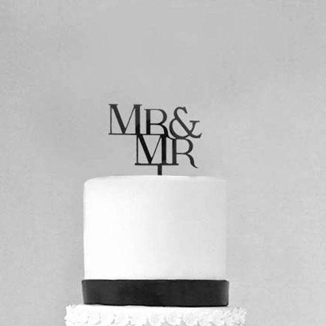 Mr. & Mr. Acrylic Cake Topper