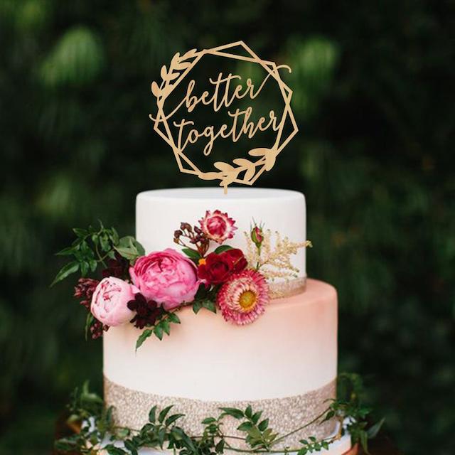 Personalized Wedding Cake Topper Name Customized Wedding Decoration 11 Colors