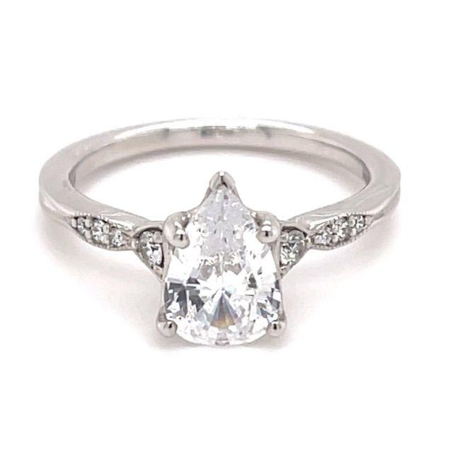 Ritani Vintage Diamond Accent Engagement Ring