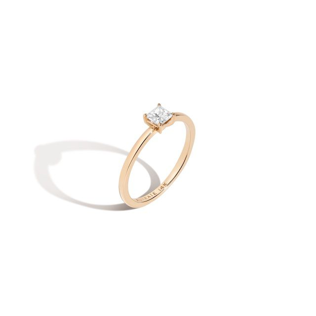 Aurate Large Diamond Solitaire Ring