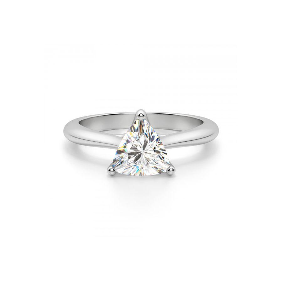 Diamond Nexus Bali Classic Trillion-Cut Engagement Ring