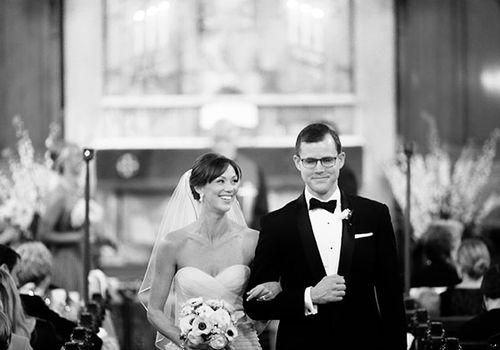 Couple weds at the Union League of Philadelphia.
