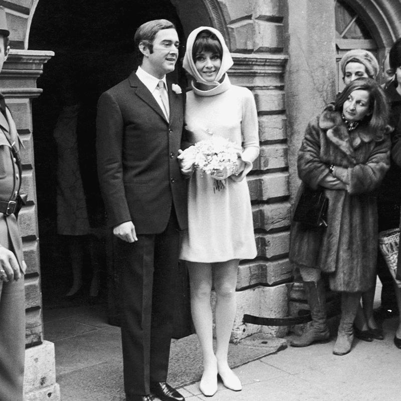 Audrey Hepburn second wedding