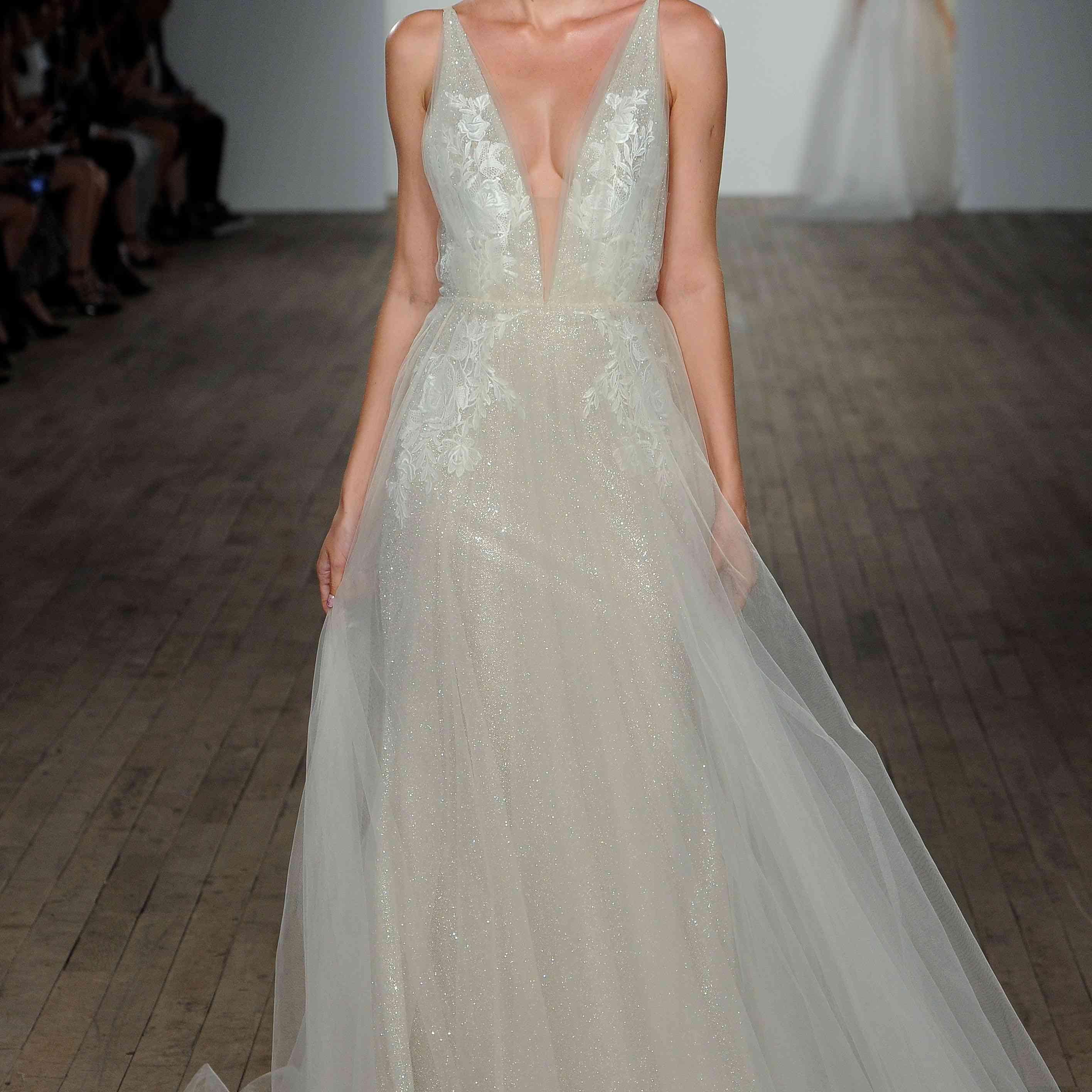 Alessandra plunging wedding dress by lazaro