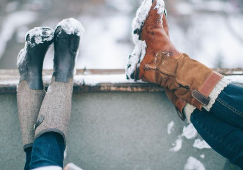 <p>His and Her Snow Boots</p>