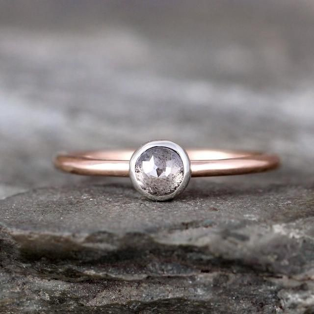 A Second Time Rose Cut Diamond Ring