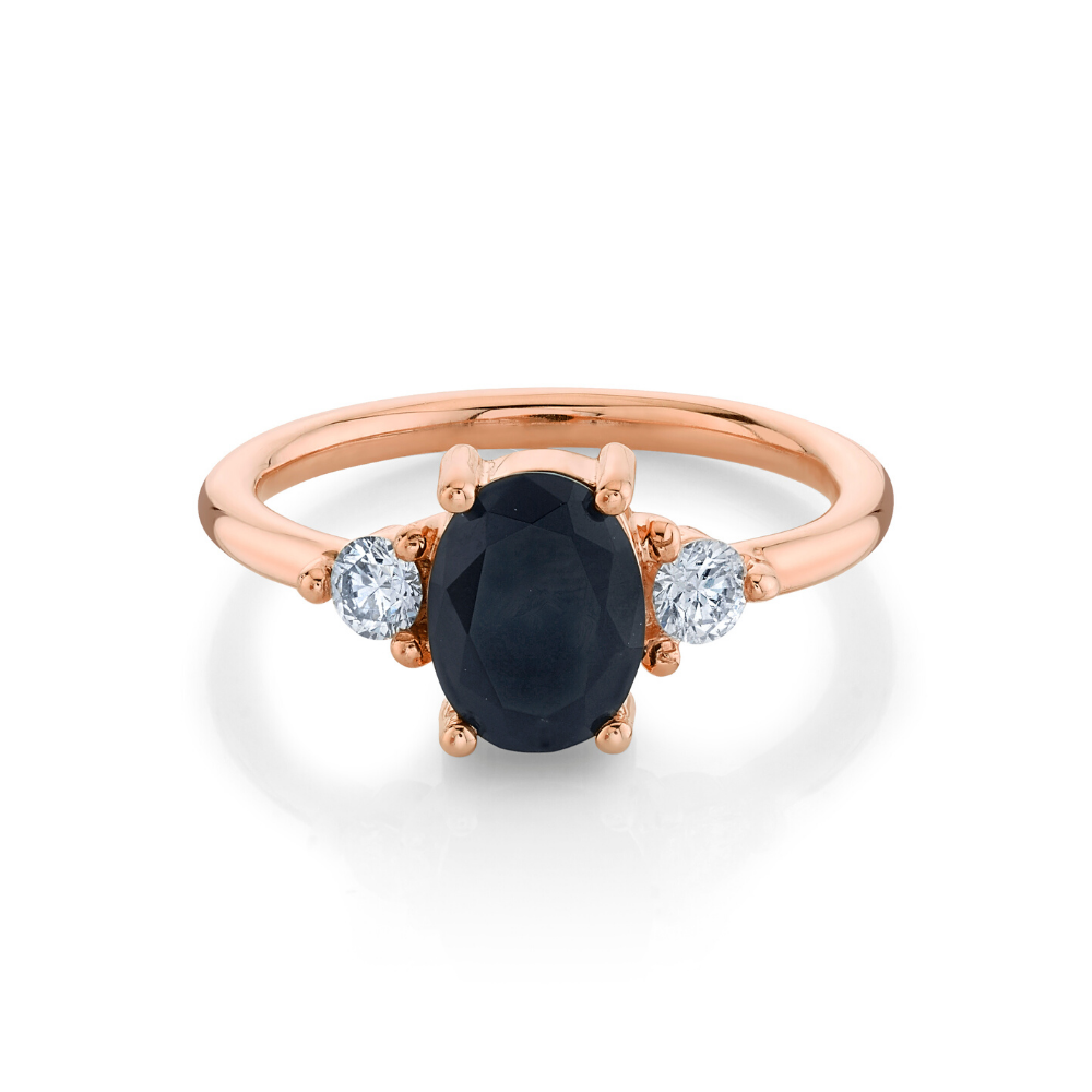Bewitched Black Onyx 3-Stone Ring