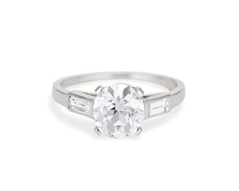 Erstwhile Old European Diamond Engagement Ring