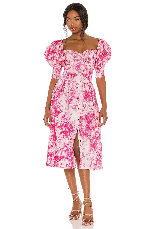 SWF Puff Sleeve Sweet Heart Dress $349