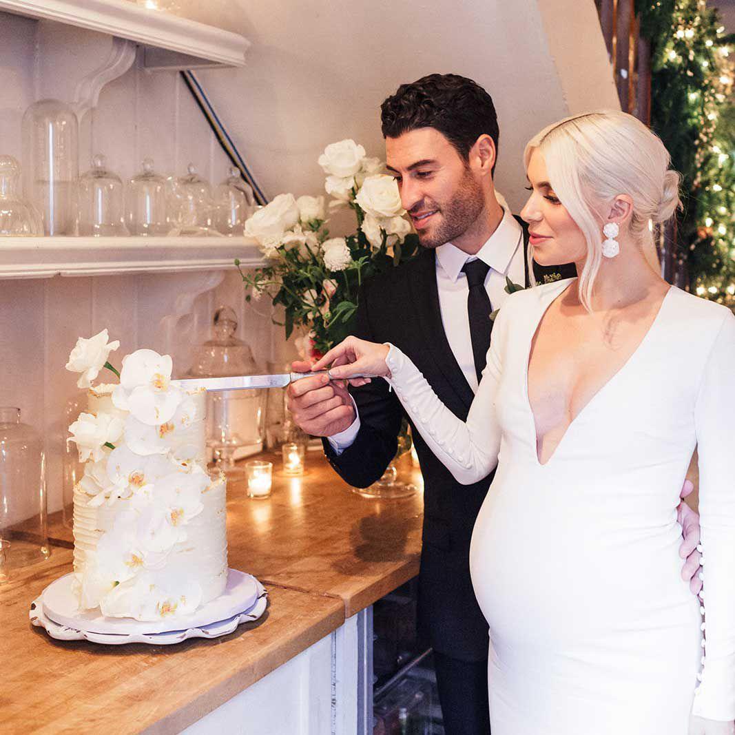 19 Small Wedding Cakes For Every Style Wedding,Minimalist Negative Space Logo Design