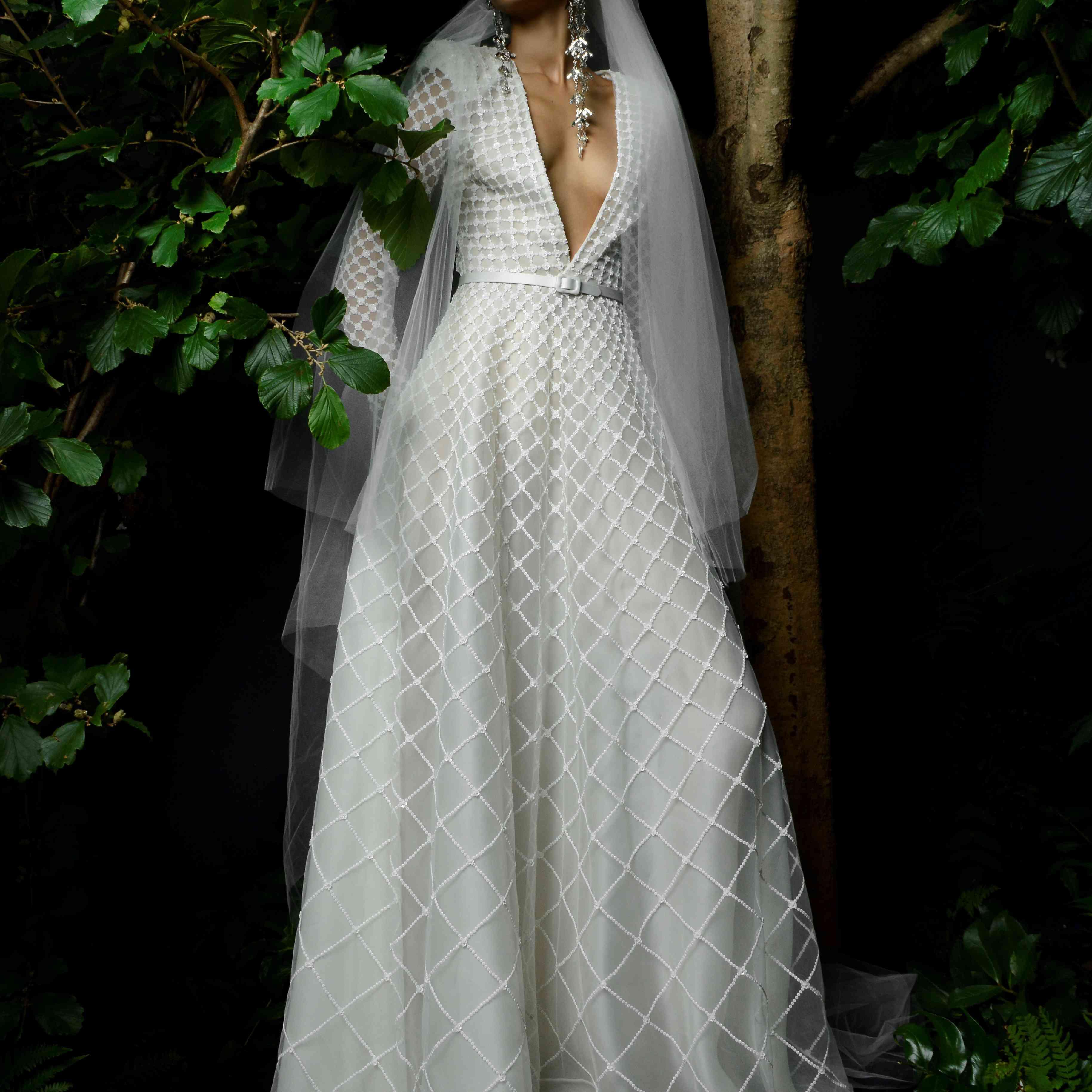 Melissani naeem khan wedding dress