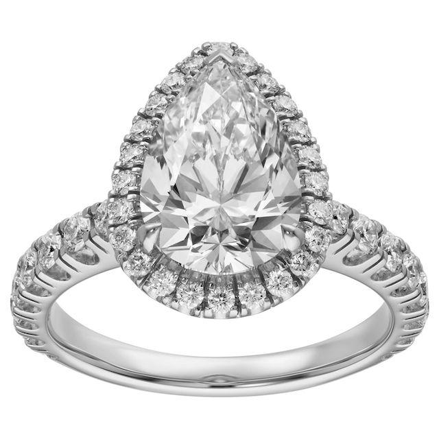 Cartier Platinum Destinée Solitaire Diamond Engagement Ring