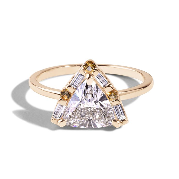 Custom Trillion Diamond Ring
