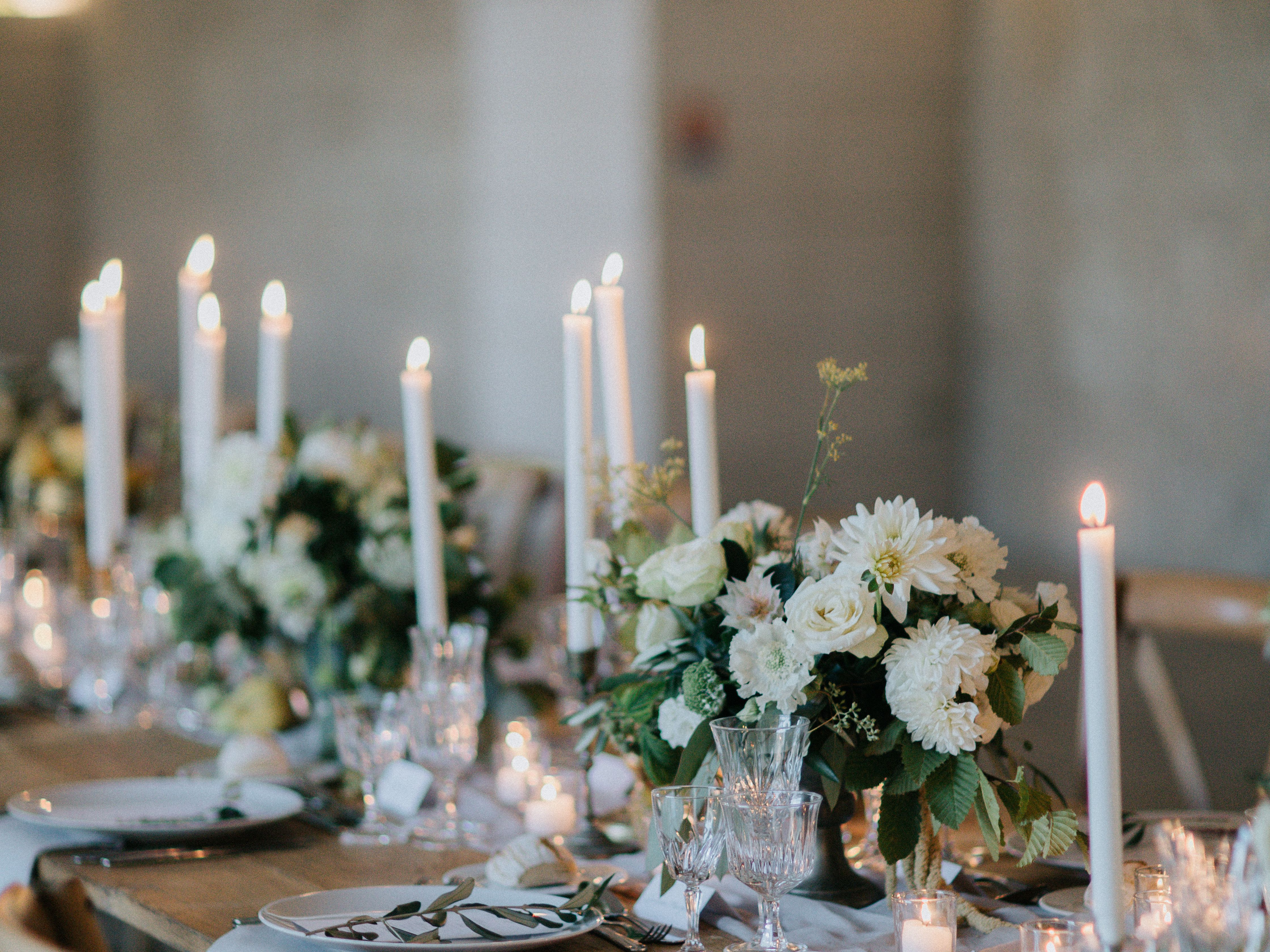 10 Ways To Use Colorful Taper Candles At Your Wedding Reception