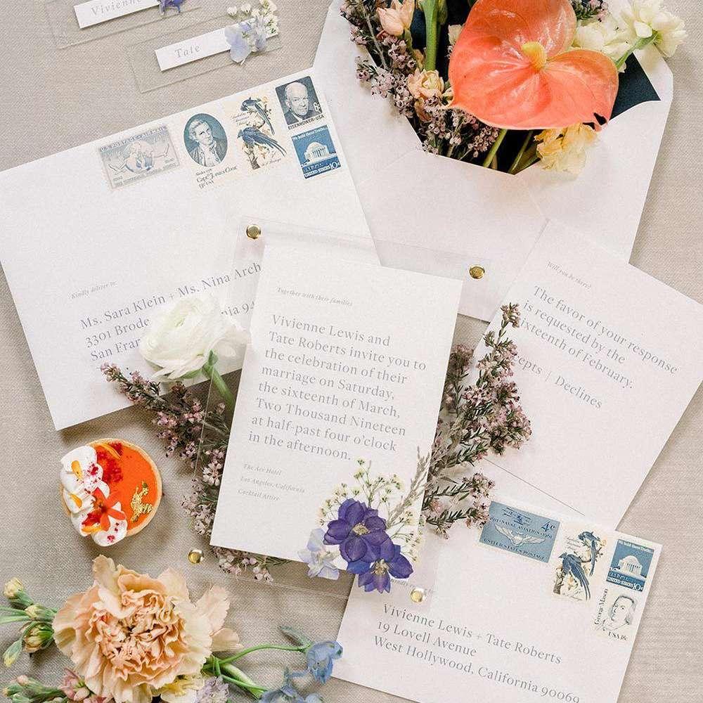 Lucite Wedding Invitations