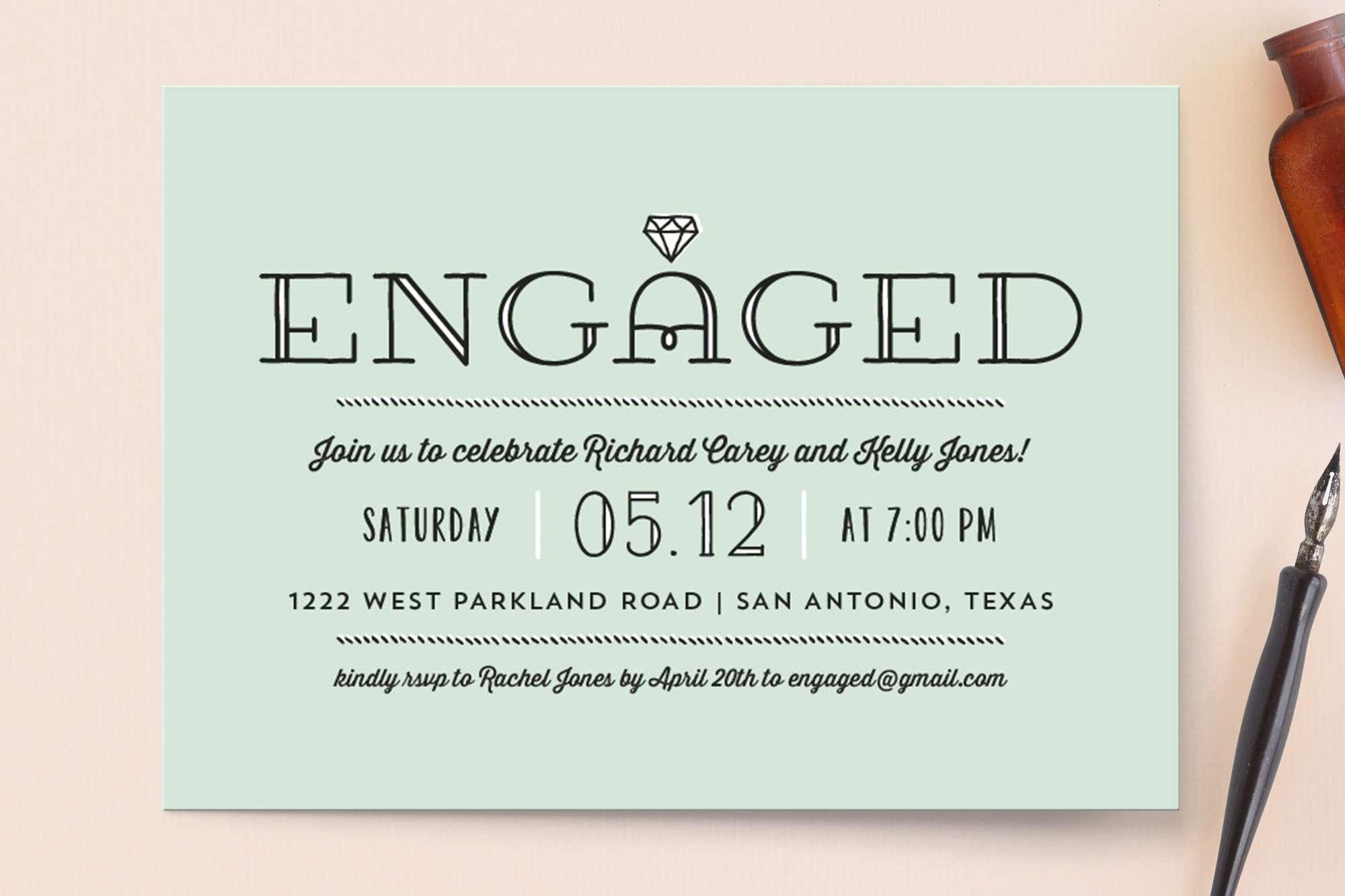 Diamond engagement party invitation