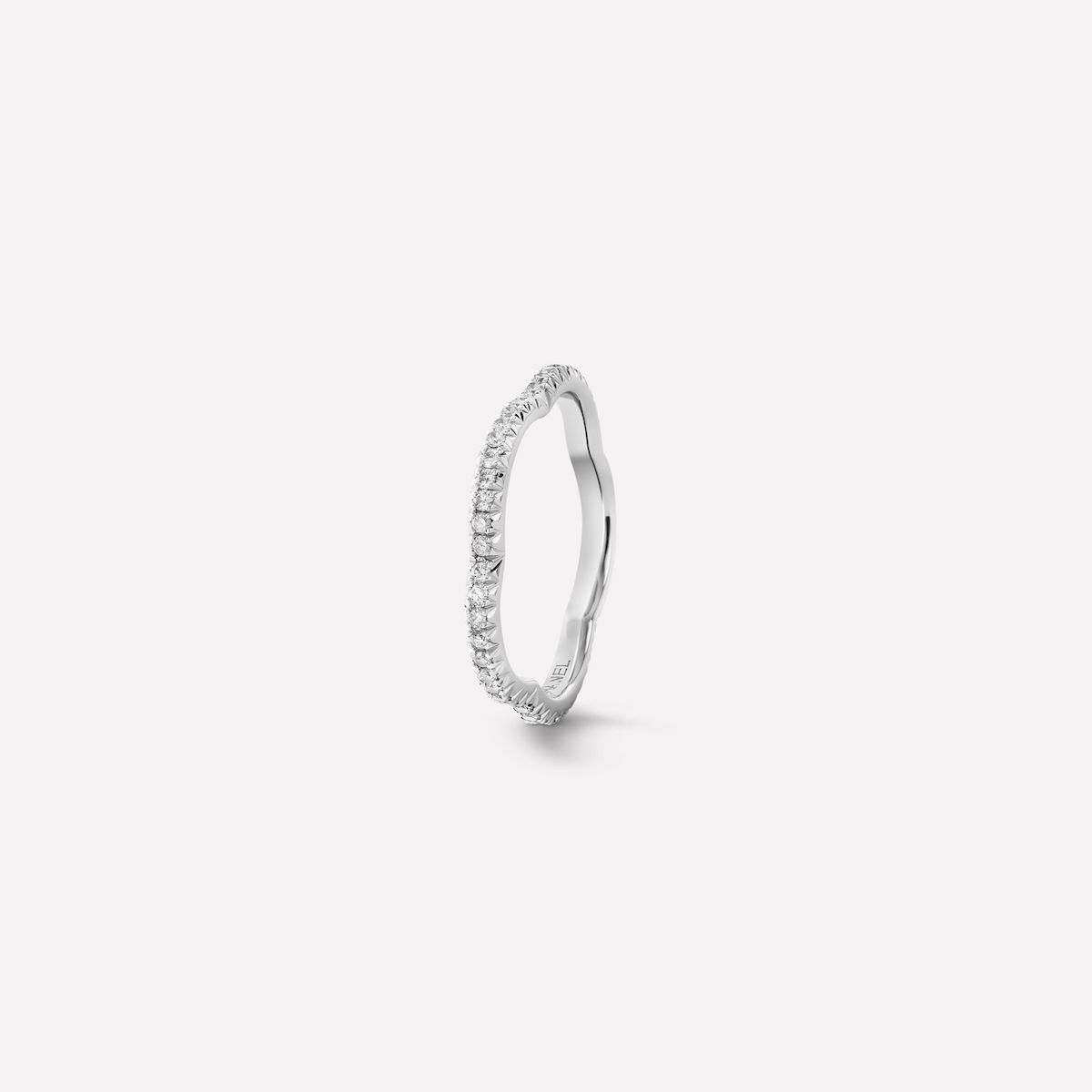 Chanel Camélia Ring in 18k White Gold and Diamonds