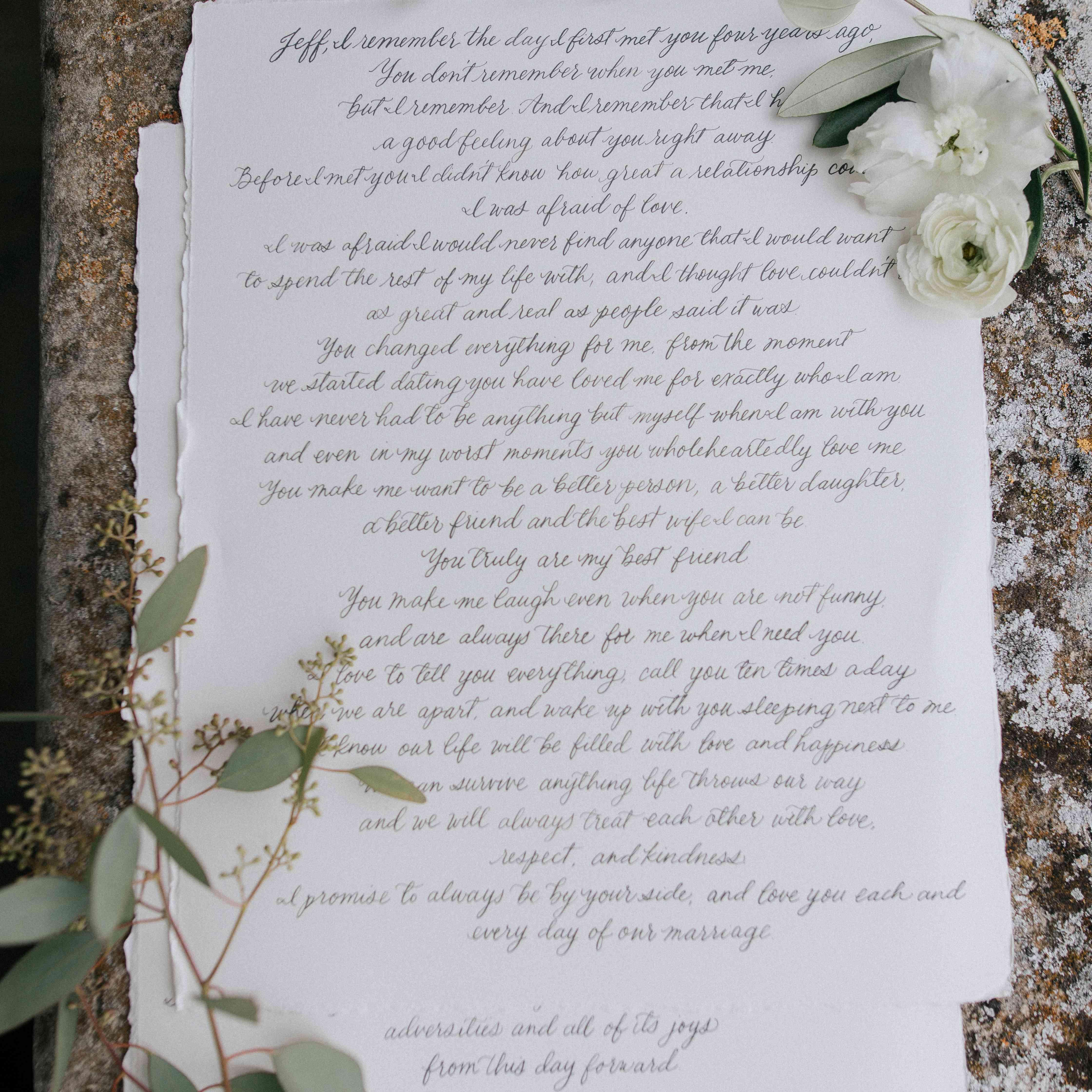 <p>The Couple's Vows</p>