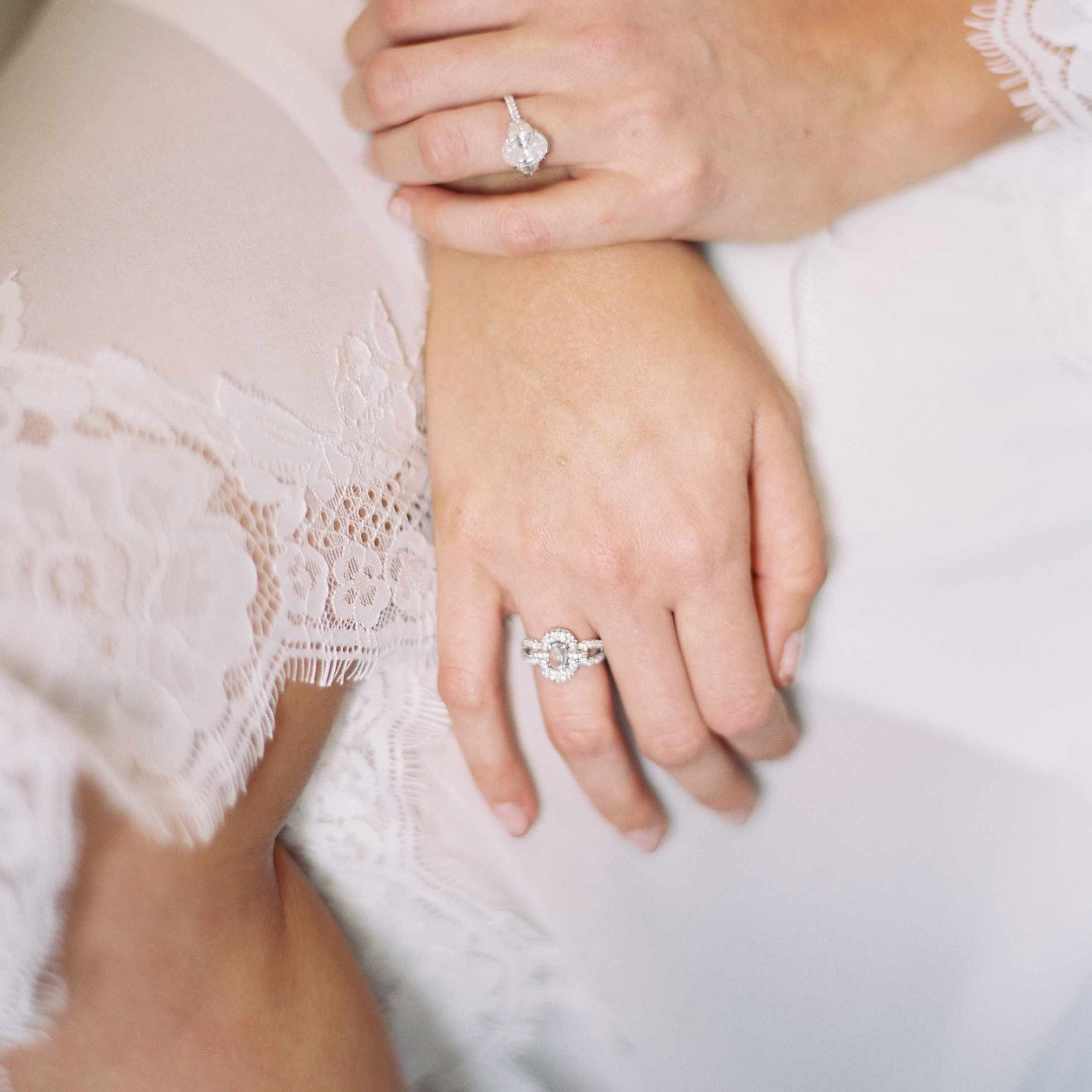 <p>Bride's hands with rings</p><br><br>