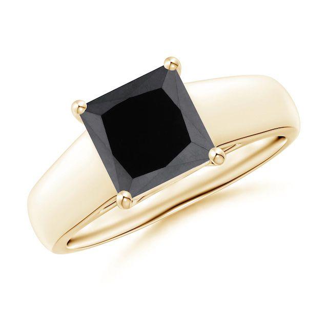 Angara Black Diamond Ring