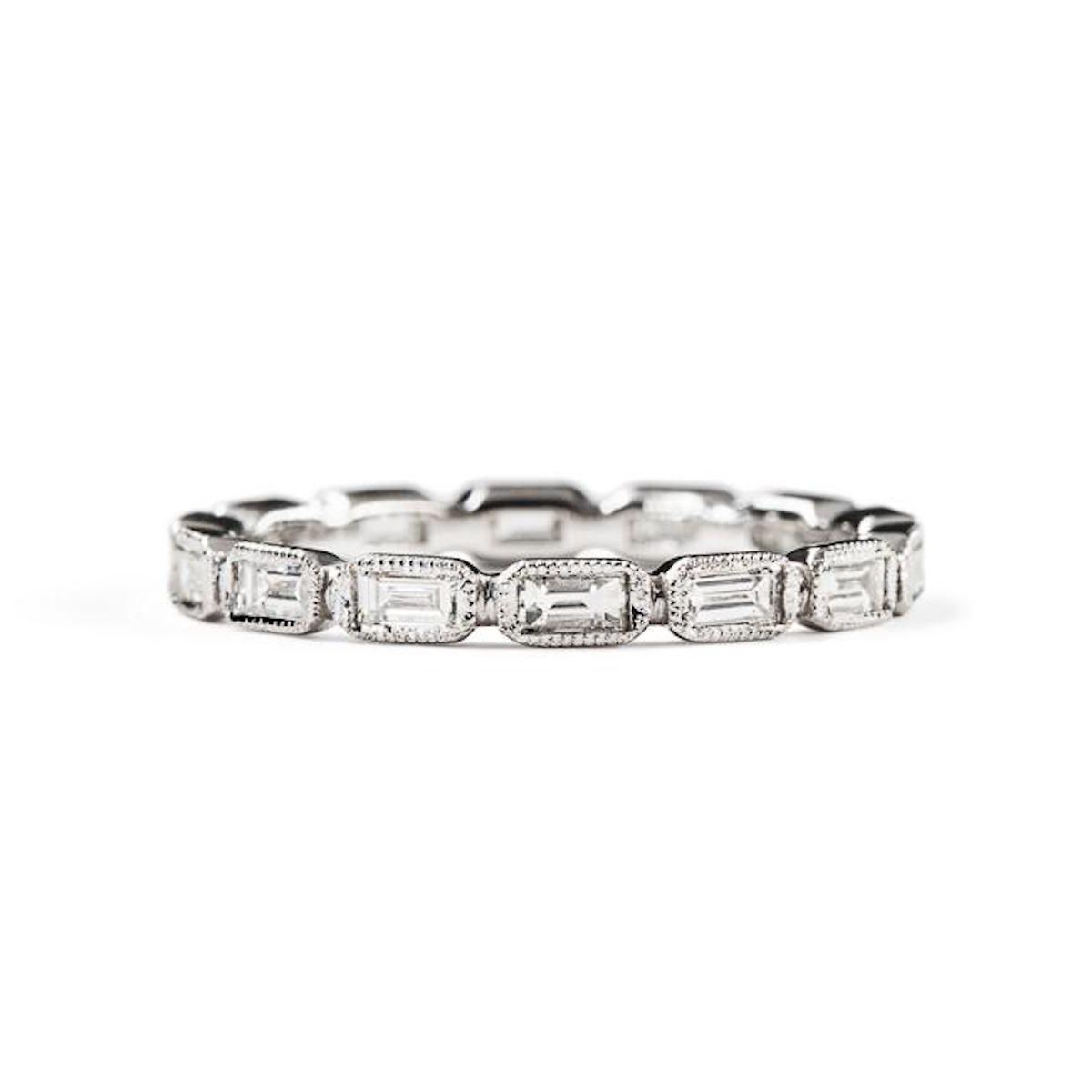 ILA Afton Ring in 14k with Baguette Diamonds