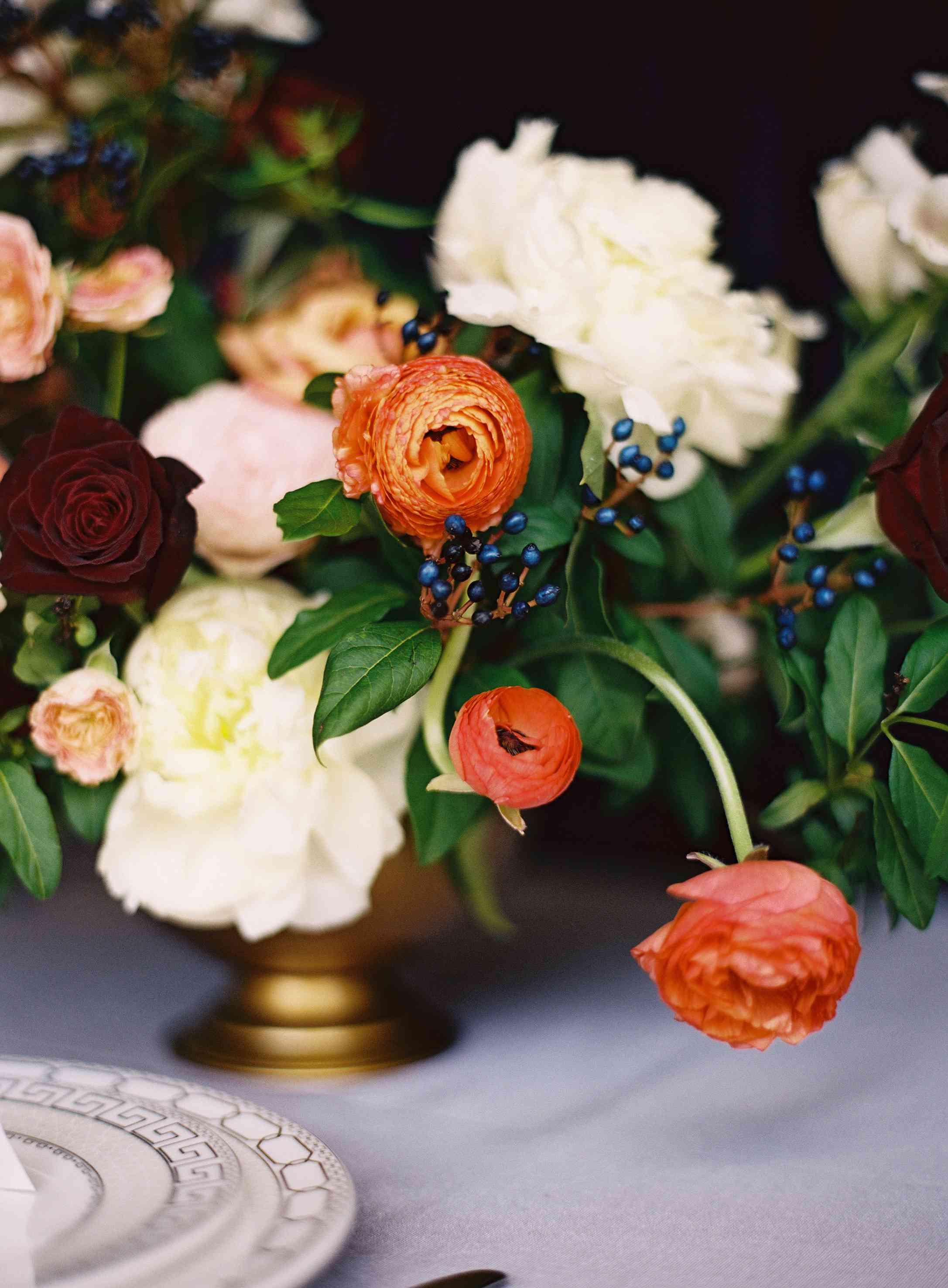 A floral arrangement with magnolias