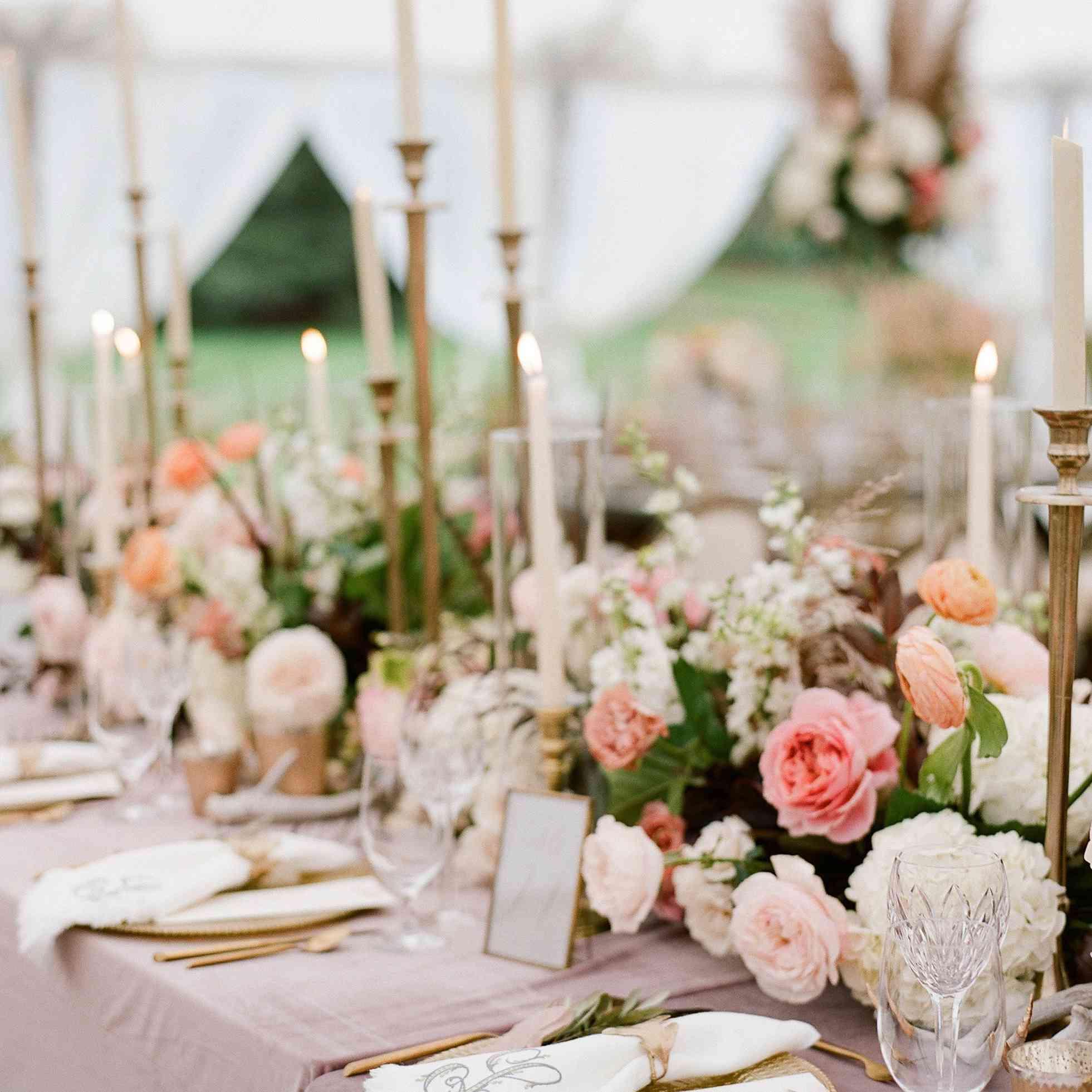 pink velvet tablecloth