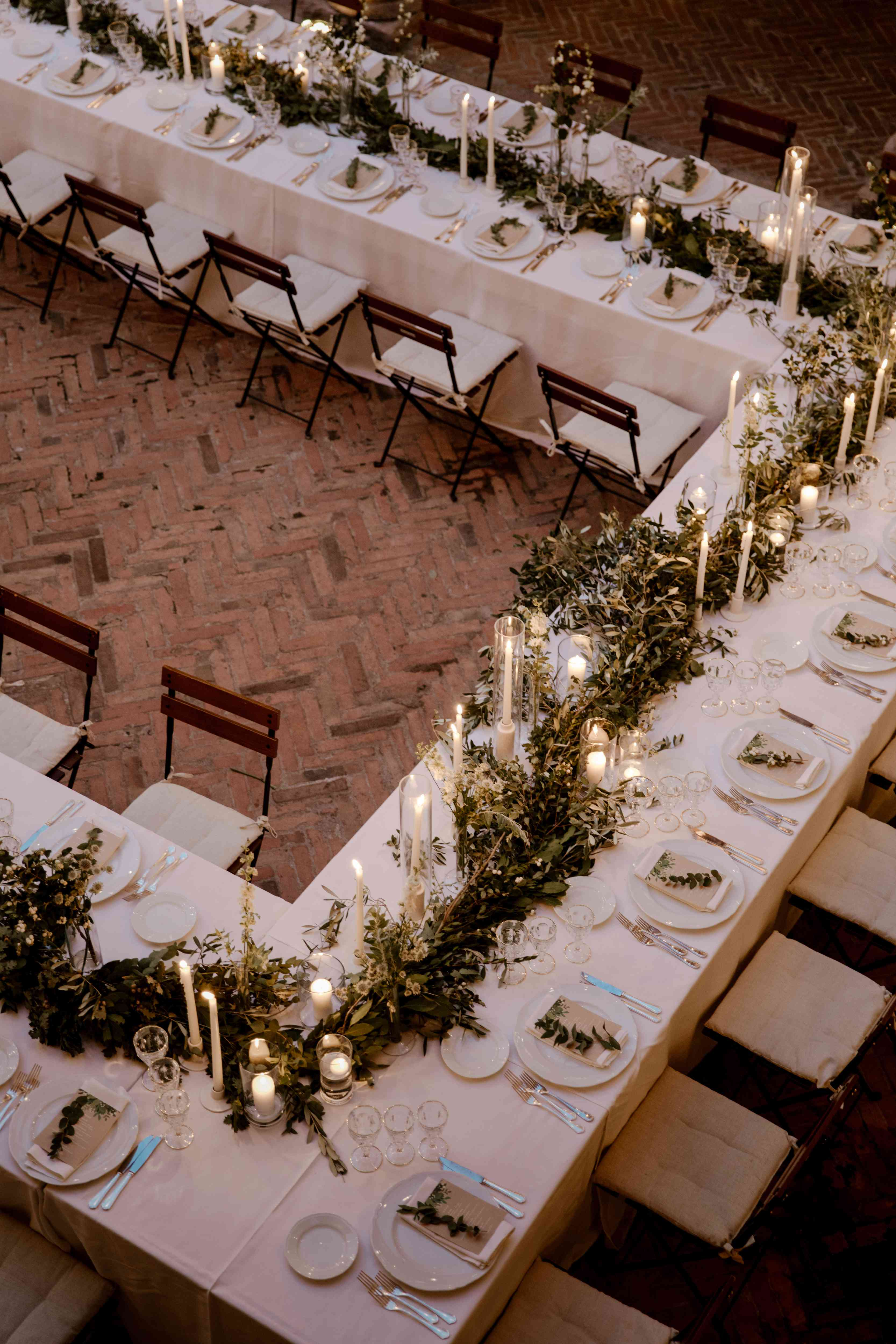 candlelit dinner tables