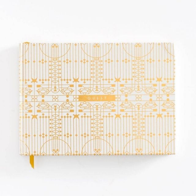 Paper Source Gold Art Deco Guestbook