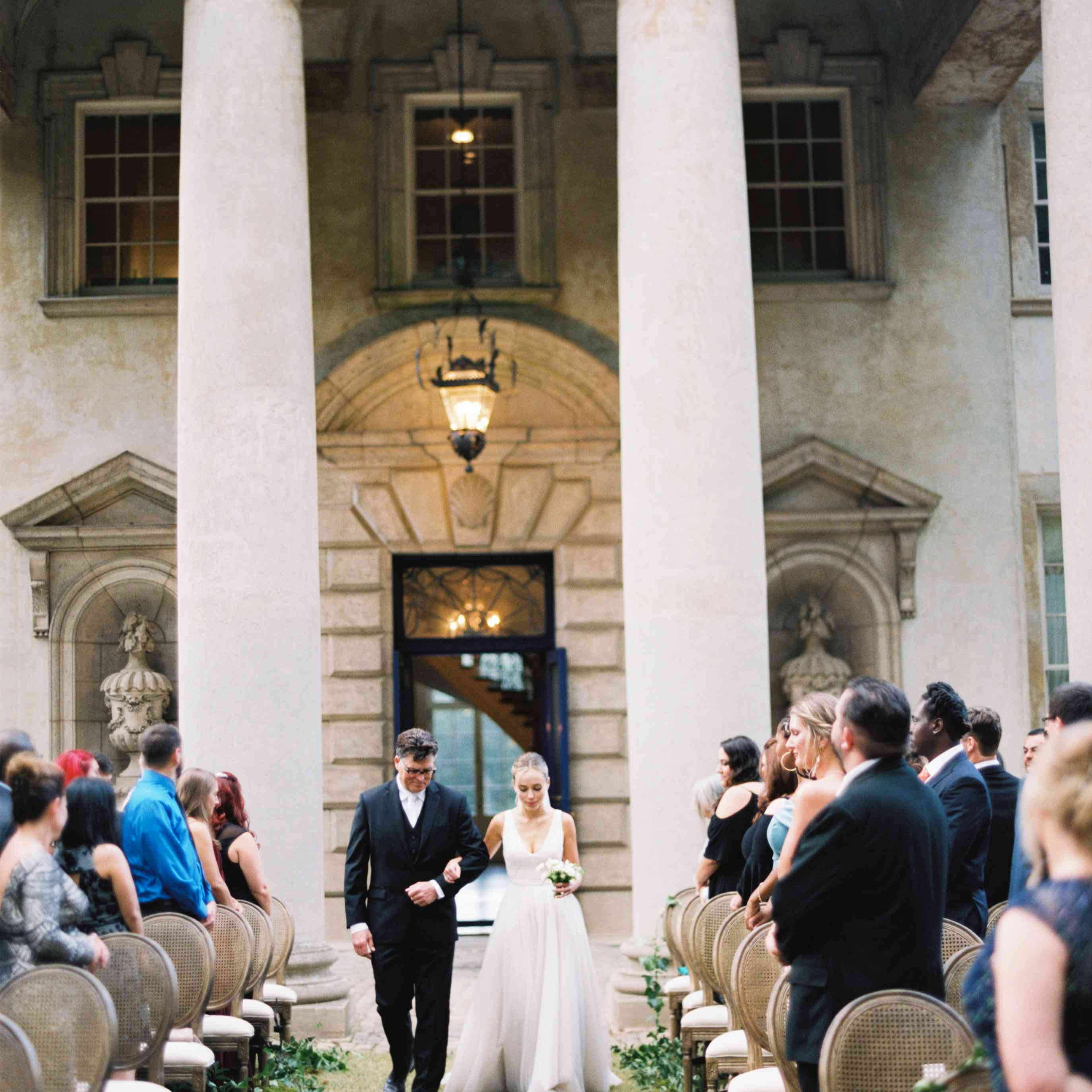 <p>walking down the aisle</p><br><br>